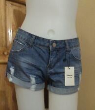 DressNStyle NWT SEMIR Original Teen Cotton Summer Taterred Denim Shorts JAPAN 25