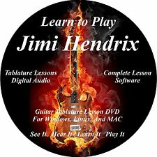 Jimi Hendrix Guitar TABS Lesson CD 136 Songs + Backing Tracks + BONUS!