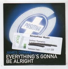 (FZ84) James Doman, Everything's Gonna Be Alright - 2008 DJ CD