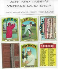 1972 TOPPS BASEBALL 360 TO 773 YOU PICK FROM SCANS