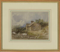 George B. Hodgson (1847-1921) - Signed & Framed Watercolour, Rural Cottage