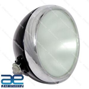 "7"" Inch Miller Black Type Headlight Head Lamp For Triumph BSA Norton Vincent ECs"