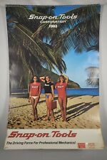 """1993 SNAP-ON TOOLS Collectors Edition 22/"""" Pin-Up 12-Month Calendar Unused"""