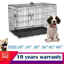 NEW Small Medium Large XL XXL Pet Dog Cat Cage Crate Foldable Carried Transport