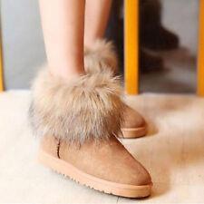 Bottes Femmes Filles fourrure Snow Boots Bottines camel 38