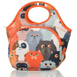Made Easy Kit Lunch Bag, Tote, Carrier for All Ages, w/ Front Pocket, Insulated