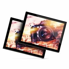 2 x Glass Placemats 20x25 cm - Photography Camera Lens  #24006