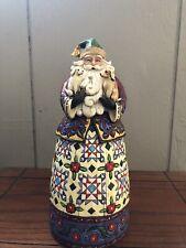 "Jim Shore Heartwood Creek Santa ""Santa's Best Friends"" Figurine"
