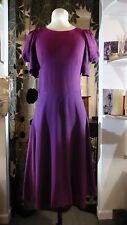 Original Vintage 1970's BIBA Backless Purple Maroon Dress 8 - 10