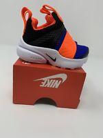 BABY BOYS: Nike Presto Extreme Shoes, Black/Blue/Orange - Size 3C 870019-004