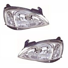 Vauxhall Combo Mk2 (H7/H7) Van 7/2002-2006 Headlights Headlamps 1 Pair O/S & N/S