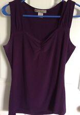 Vintage Suzie Purple Silky Tank Top (Size L)