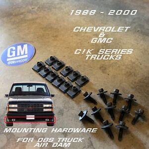 88-98 Chevy GMC C/K OBS Bumper Valance Air Dam Deflector Hardware Kit 454 SS GM