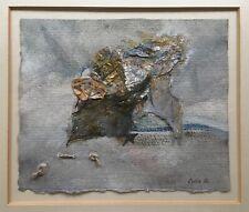 Lydia: Signiertes Orig. Aquarell mit Material Collage in edler Galerie Rahmung