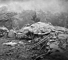 Battle of Gettysburg - Little Round Top Union Breastworks 8x10 Civil War Photo