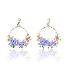 Bohemia Flower Dangle Earrings Wedding Jewelry Ethnic Big Long Tassel Earrings