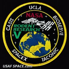 Rodent Research 5 - SPACEX FALCON 9 - NASA AMES DOD SPX-11 ISS ORIGINAL PATCH