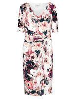 New M&S Per Una Floral Cowl Neck Dress Sz UK 8