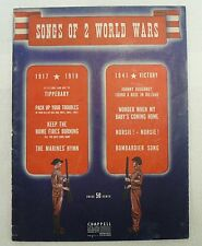 """SHEET MUSIC  """" SONGS OF 2 WORLD WARS """" DATED 1941"""