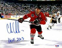 "PSA/DNA ITP CHRIS CHELIOS ""HOF 2013"" AUTOGRAPHED BLACKHAWKS 1992 CUP 8X10 PHOTO"