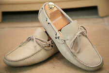 Paul Smith Made in Italy Cream Leather Laced Loafer Shoe Size UK 6