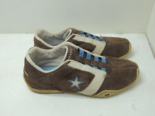 Converse Brown Suede Leather Brown Sz 9 Sneakers Shoes
