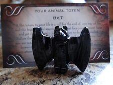 Black Onyx *BAT* Carved Stone Figurine Totem (1) FREE Bonus LOOK Wiccan Pagan Gi
