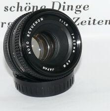 PK Auto Revuenon 1,9/50 mm gut erhalten Vintage Objektiv Kamera   274