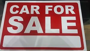 5x A4 SIZE CARS Price Pricing FOR SALE Sign Board Plastic Card Display Bargain