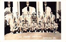 Real Photo Postcard Kay Kyser's Orchestra Catalina Island California~126824