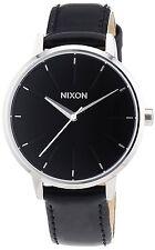 Nixon il KENSINGTON Pelle Nera a108-1392 Orologio Donna
