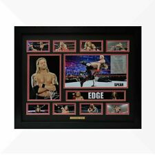 EDGE WWE Signed & Framed Memorabilia - Black/Red Limited Edition
