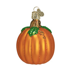 """Pumpkin"" (28046)X Old World Christmas Glass Ornament w/ OWC Box"