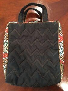 Cinda B Vertical Cosmetic Bag, Ravinia Black