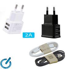 CARGADOR Doble universal USB 2A para GPS MOVIL TABLET Charger Dual USB