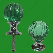 6x Clair Vert Cristal Verre Tourbillon Porte Tiroir Placard Pommeau Poignée Anse