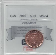 **2010 Logo**Coin Mart Graded, Canadian, Small One Cent, **MS-64 Non Mag**