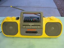 Vintage Sony Cfs-904 Am/Fm Cassette Sports Boombox Player Yellow - Working Read