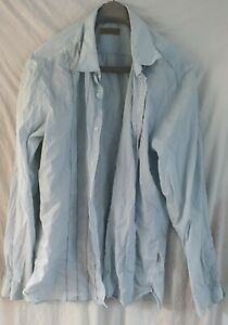 Ted Baker formal/casual black/white/blue stripped skinny fit shirt size 6 used