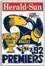 West Coast 1992 Weg Reprint Grand Final Poster.