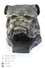 English Bulldog - dog head resin figurine, high quality, Art Dog