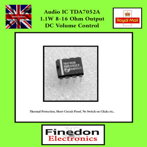 Philips TDA7052A 1W Audio Amplifier Dip-8 IC UK Seller