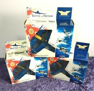 Corgi The Aviation Archive Battle of Britain Collectable x 3 with Original Boxes