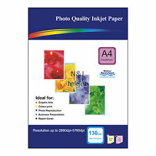 100 Sheets of A4 130gsm High Quality Matte Photo Paper for Inkjet Printers