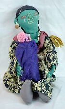 """12""""  Chibo Ute Textile Sculpture Rusape By Cecilia Chitemo Woman With baby"""