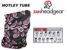 Zan HeadGear Motley Tube Facemask BLACK Balaclava Beenie FLEECE LINED Available