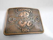 1970s VINTAGE BELT BUCKLE #05- 017 - CROSMAN COPPERHEAD SUPERROUND BB GUN AMMO
