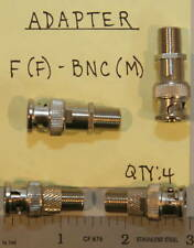 (4) BNC(Male) to F(Female) Adapters