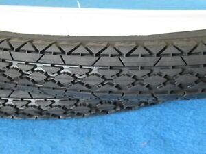 "26"" x 2.125 White Wall Goodyear Retro Style Bicycle Tread Beach Cruiser Tire Set"