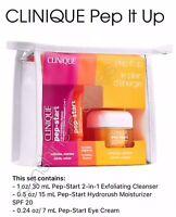 Clinique PEP-START Exfoliating Cleanser + HydroRush Moisturizer + Eye Cream
